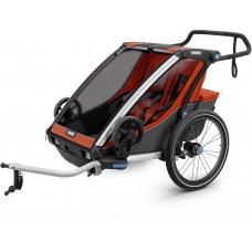 Детская коляска Thule Chariot Cross 2 (Roarange-Dark Shadow)