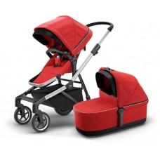 Детская коляска с люлькой Thule Sleek (Energy Red)